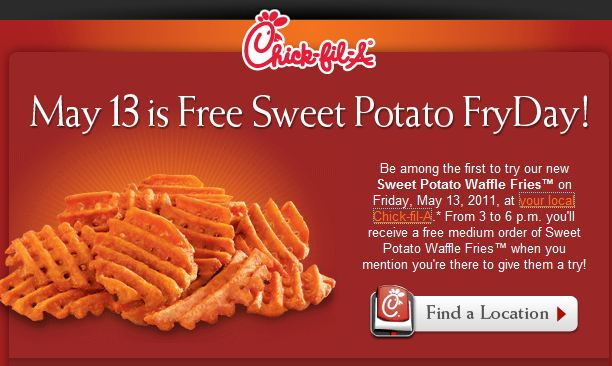 waffle fries chick fil a. Today from 3p-6p Chick-fil-A