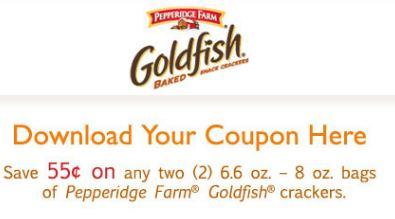 photograph about Goldfish Printable Coupons identified as Goldfish coupon printable / Mma warehouse coupon codes