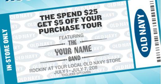 old navy printable coupon 2011 coupon dad coupons