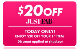 Just Fab 20 off coupon