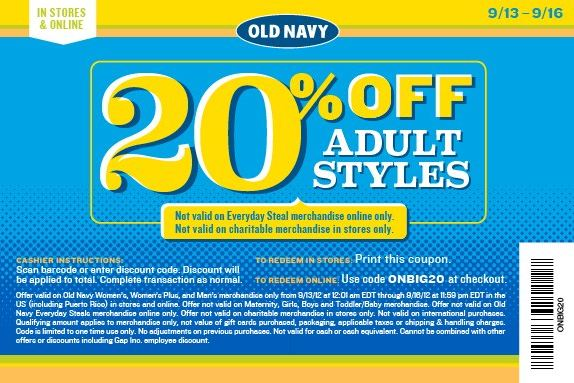 40% Off Any Order And Free Shipping On Orders Of $25+ Starting 10/2: 40% off your purchase + Free shipping on orders of $25 or more at Old Navy, Gap, and Banana Republic/5(13).