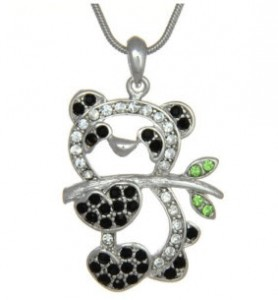 Crystal Panda Bear Pendant Necklace Fashion Jewelry