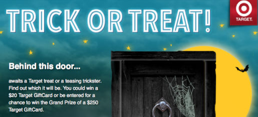 Target Trick or Treat sweeps