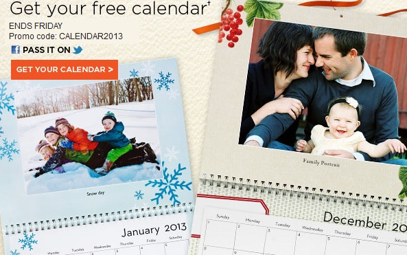 FREE Personalized 2013 Calendar ($21.99 Value)