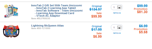 HUGE discount and get 2 toys cheaper than the InnoTab 2 bundle price