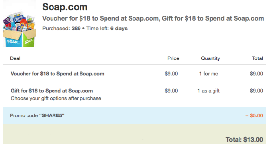 soap promo code