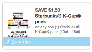 starbucks kcup coupon